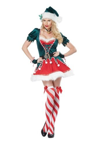 Christmas just a got a little...more sexy. This cute Adult Santa's Helper Costume has a spicy flair that can keep St. Nick feeling a little hot in the middle of winter.