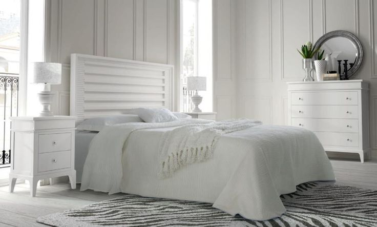 1000 images about muebles blancos luz y serenidad on - Chambre style campagne chic ...