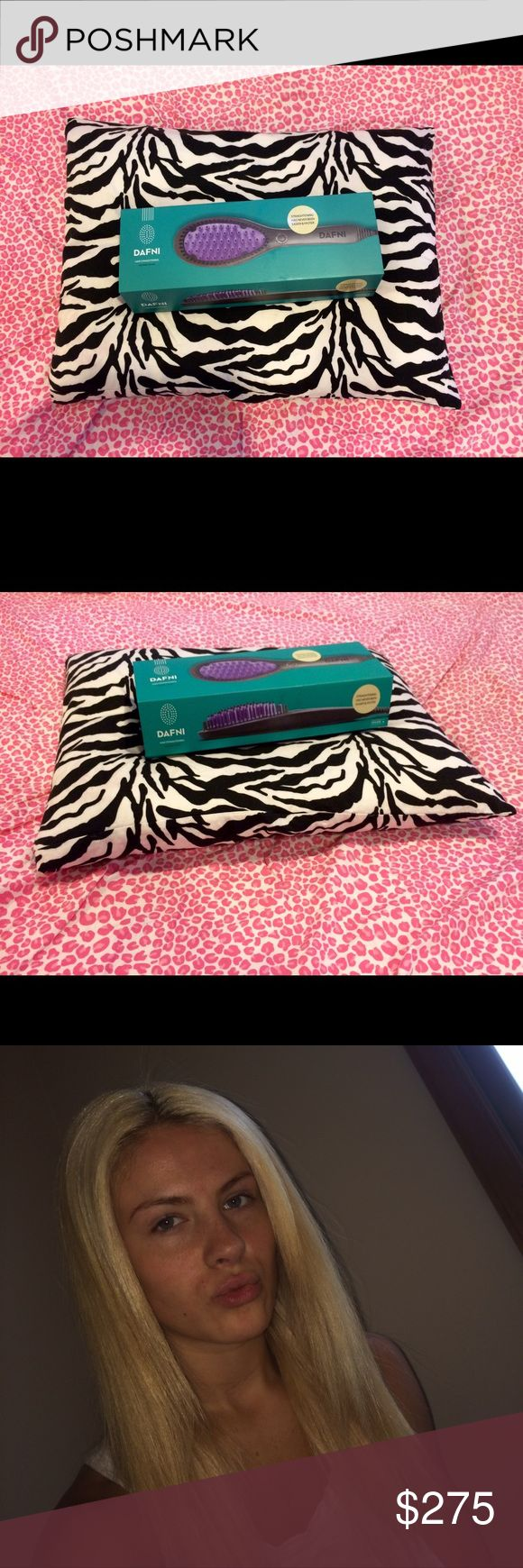 The DAFNI Hair Straightening Ceramic Brush! This salon envied hair straightener is just waiting for a new best friend. With the market selling price at $300.00(+) I'm here to give you a discounted price on a brand new DAFNI hair straightener brush AND gloves/heating pad. This straightener works wonderfully for all hair types! DAFNI Accessories
