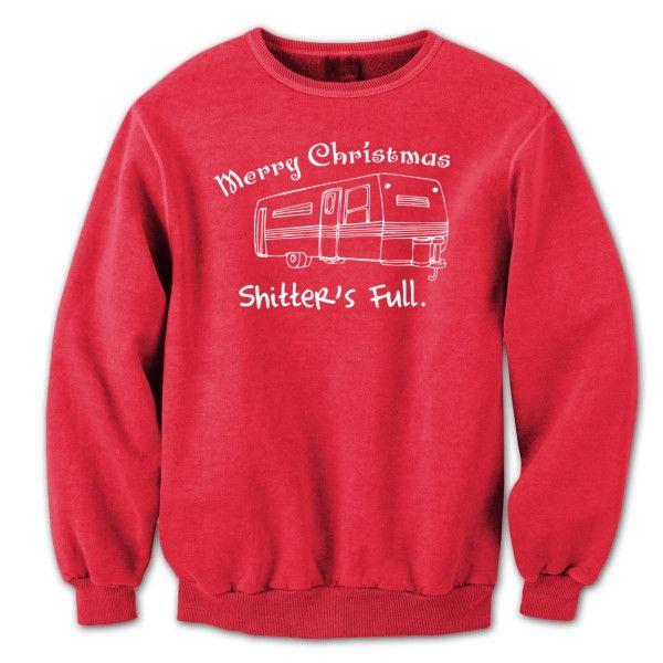 Camper Merry Christmas Shitter's Full Crewneck Sweatshirt
