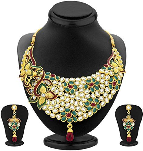 Red & Green Stone Indian Bollywood Gold Plated Kundan Wed... https://www.amazon.com/dp/B06WVZL82T/ref=cm_sw_r_pi_dp_x_AGxgzbMM60M5T