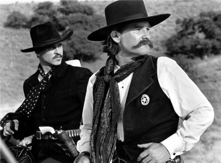 "Doc Holliday and Wyatt Earp played superbly by Val Kilmer and Kurt Russell in ""Tombstone"""