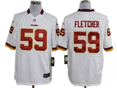 Nike NFL washington redskins #59 fletcher white Game Jerseys