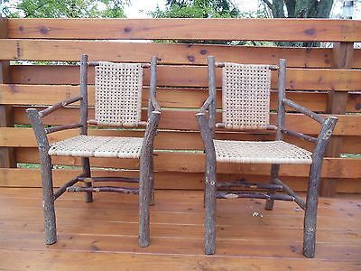 A Pair of Old Hickory Arm Chairs   eBay102 best Antique Furniture chairs and benches images on Pinterest  . Hickory White Furniture Ebay. Home Design Ideas