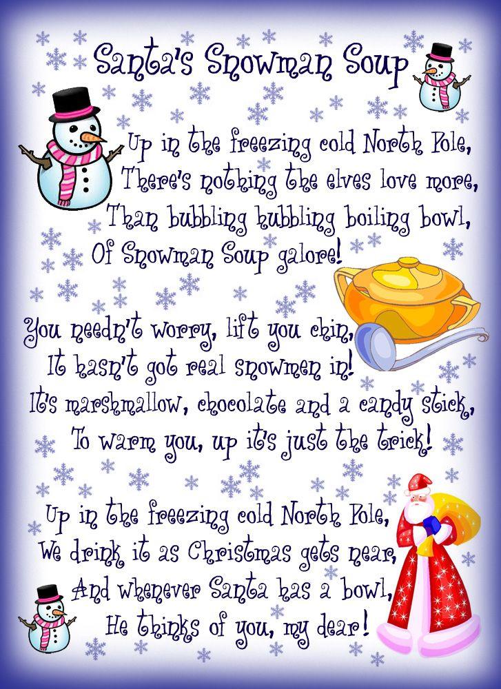 snow man soup poem - Google Search