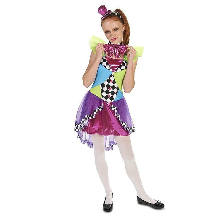 tween clever mad hatter costume girlu0027s size tween 03 multicolor