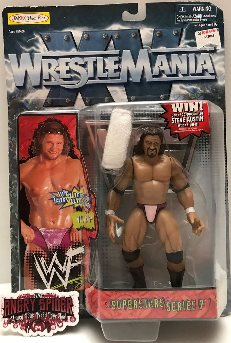 We always have the hottest Vintage Toys at The Angry Spider.  Now available: TAS000934 - 1998 ...  Check it out here: http://theangryspider.com/products/tas000934-1998-jakks-wwe-wrestlemania-superstar-val-venis?utm_campaign=social_autopilot&utm_source=pin&utm_medium=pin