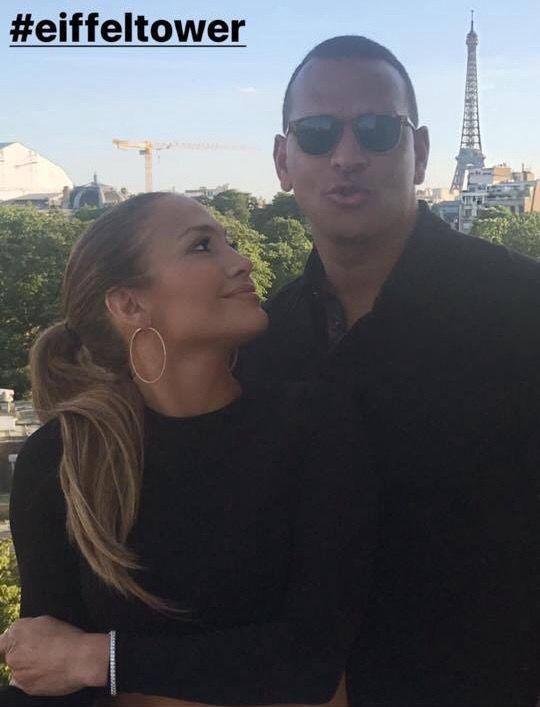 Jennifer Lopez  and Alex Rodriquez  in Paris