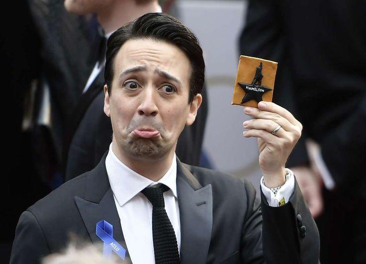 "Lin‐Manuel Miranda shows his love for the musical ""Hamilton""."