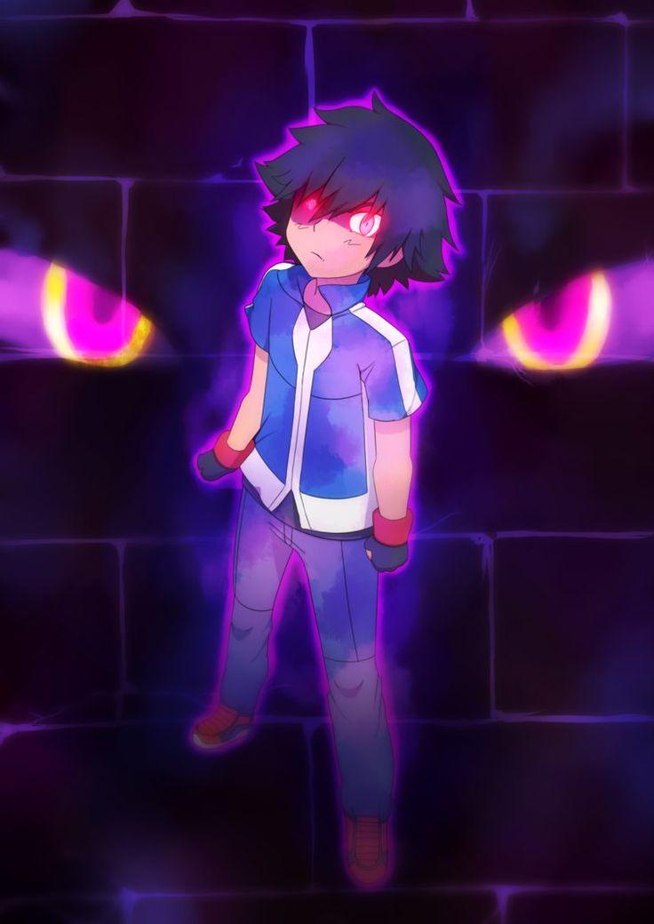 闇サトシ/Dark Ash is really cool! I'll probably draw him again ...