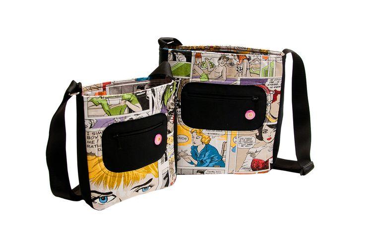 Tašky, taštičky, bokovky s motivy komiksů se fajn nosí a jsou praktické pro holky i kluky, i když už jsou teens+.