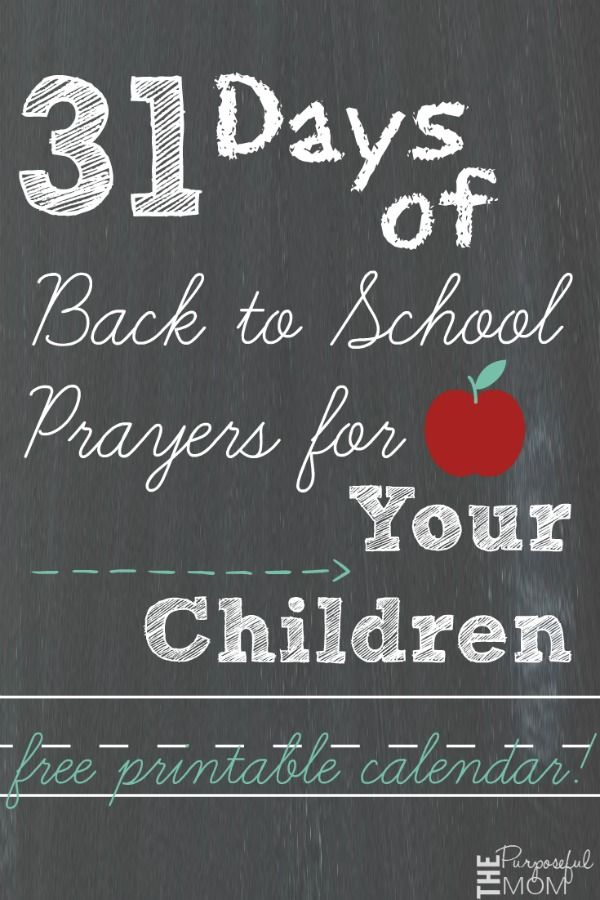 31 Days of Back to School Prayers for Your Children