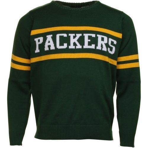 Cheap NFL Jerseys NFL - Green Bay Packers Vintage Stripe Sweater - Green | Green Bay ...