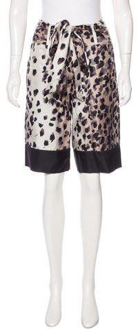 Chris Benz Silk Cheetah Print Shorts w/ Tags