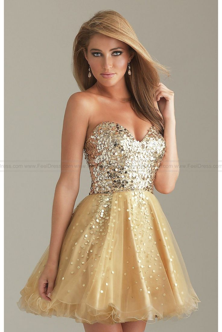 Short Gold Dress By Night Moves
