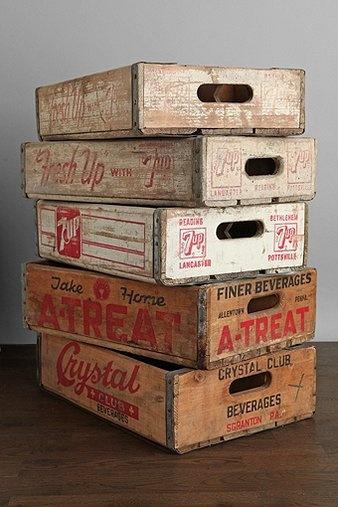 17 beste idee n over houten pallet planters op pinterest for Wooden soda crate ideas