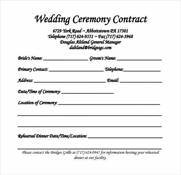 Wedding Band Contract Template In 2020 Wedding Photography