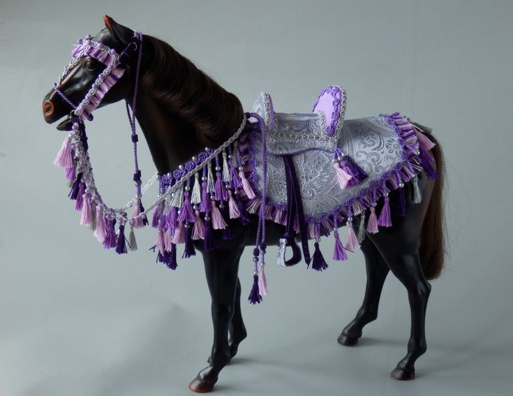 Purple Arabian costume for Sindy horse. Made by Juditheart 2018
