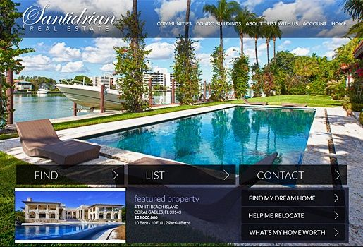 Website Real Estate Desain Terbaik - Santidrian Real Estate - Miami, FL