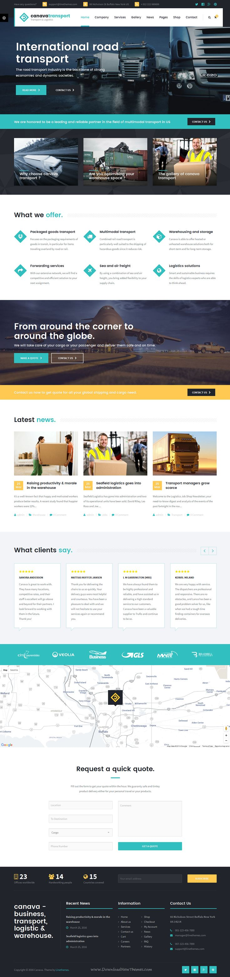 Canava is a premium responsive #WordPress theme created especially for #logistic & transportation companies, offices #website.