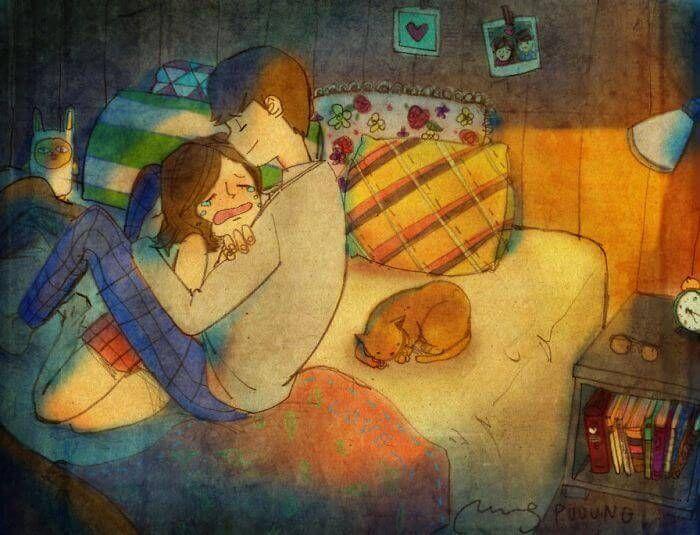 Aime-moi quand je le mérite le moins car c'est à ce moment là que j'en ai le plus besoin