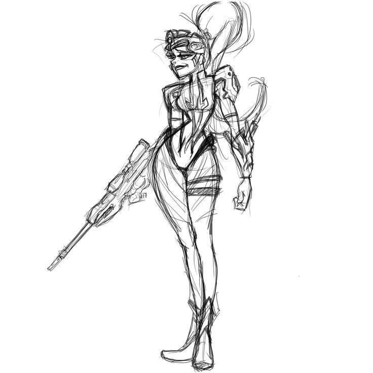 #WidowMaker #Tracer #Overwatch   #CharacterDrawing,  #CharacterConceptArt, #LineDrawing #character #characterdesign #conceptart #digitaldrawing #disneystyle