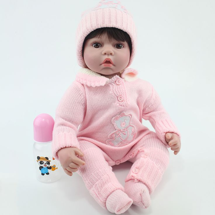 50cm silicone reborn baby dolls Toy For Sale Cheap Vinyl Princess Girl Newborn Babies Dolls Bedtime Lovely Fashion Birthday Gift #Affiliate