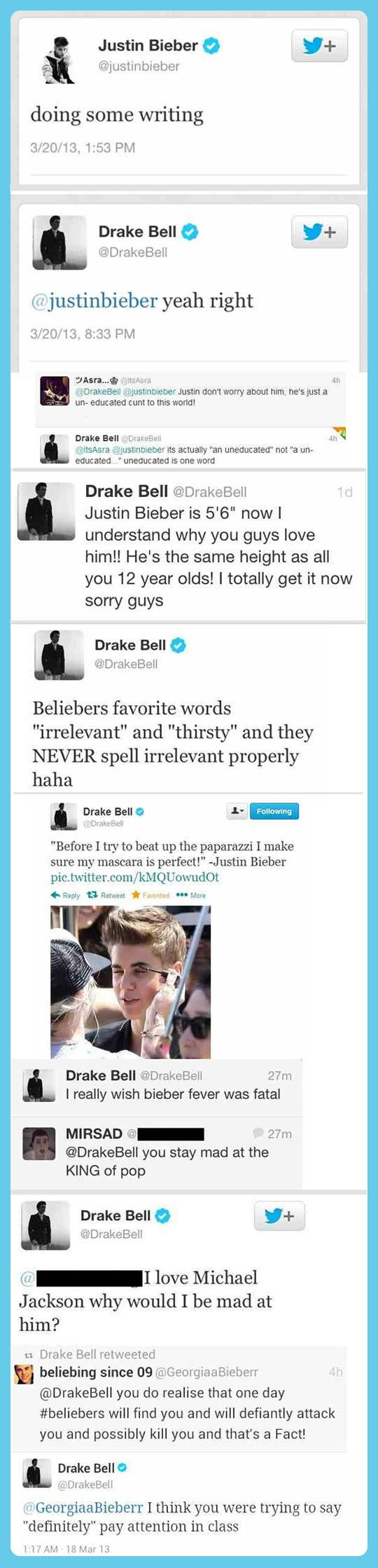 This is hilarious. I loveeeee drake bell. And don't we all wish Bieber Fever was fatal