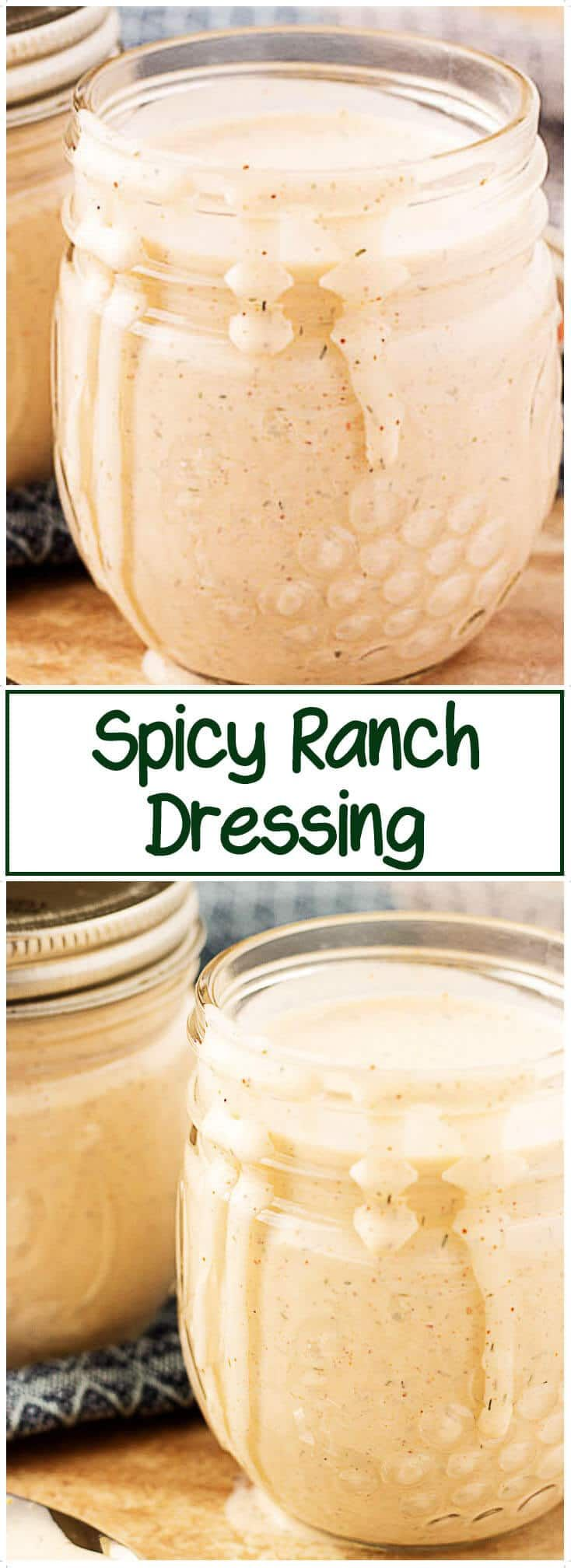 Spicy Ranch Dressing is easy to make and has hints of cayenne, dill, chipotle, and garlic coupled with the creaminess of buttermilk. #ranch #spicy #dressing via @berlyskitchen