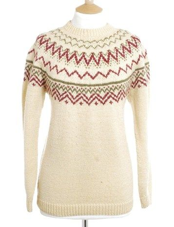 Picture of Vintage 1970's Cream Nordic Jumper 12