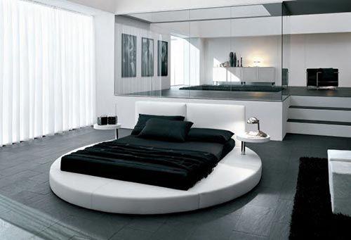 Luxe slaapkamer met rond bed | Interieur inrichting