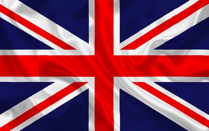 Descargar fondos de pantalla Bandera británica, Gran Bretaña, la seda, la bandera de Gran Bretaña