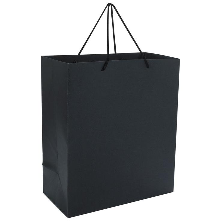 black pearlised large gift bag