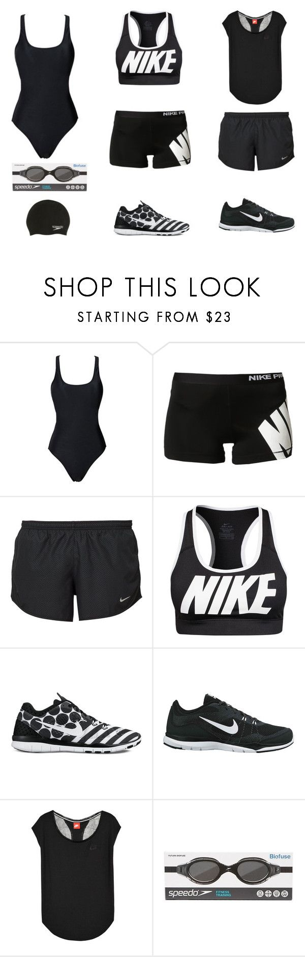 """""""PRACTICE TRIATHLON"""" by stylev ❤ liked on Polyvore featuring NIKE, Speedo, women's clothing, women's fashion, women, female, woman, misses and juniors"""