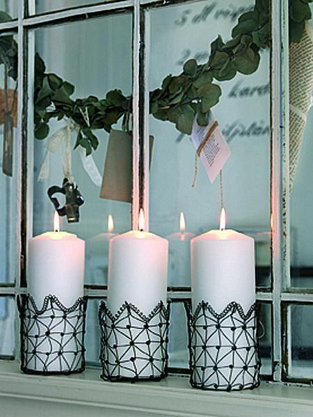 Nordic house wire candle holders