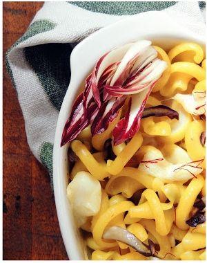 La primavera non arriva … Pasta, Radicchio, Zafferano Persian Gold & Toma