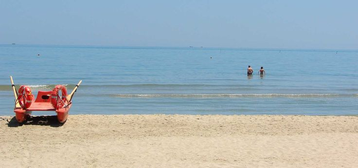 Spiaggia del camping Don Antonio, Giulianova. Villaggio sul mare d'Abruzzo. www.campingdonantonio.it