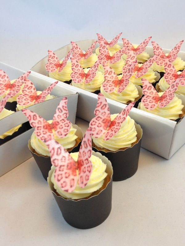 Pink Leopard Butterfly Cupcake Kit. Click here http://www.icingonthecakekits.com/item_111/Pink-Leopard-Butterfly-Cupcake-Kit.htm $39.95