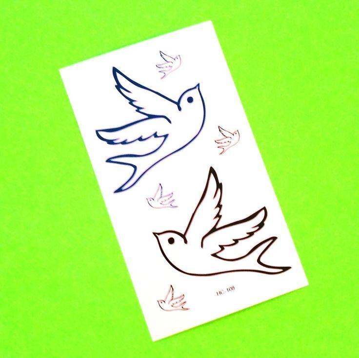 Swallow Temporary Tattoo