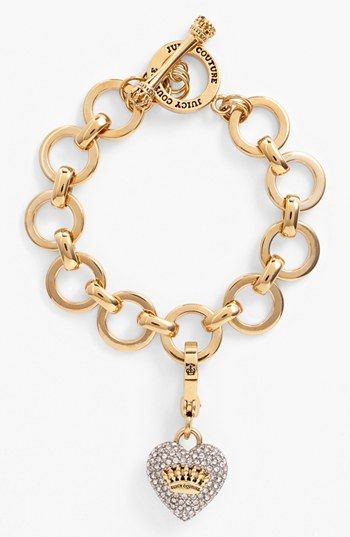 Juicy Couture Pavé Heart Charm Bracelet available at #Nordstrom