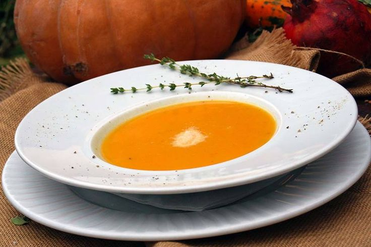 Paparouna Wine Restaurant & Cocktail Bar | Our Chef suggests for today...Veloute pumpkin soup with thyme and grated parmesan.