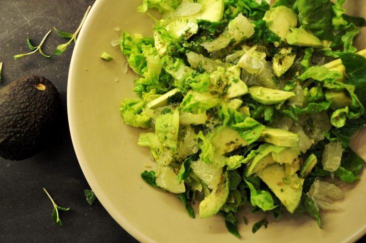 Pomelo salat med mynteolie