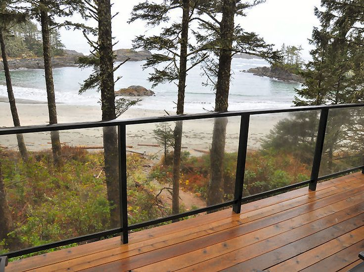 Aluminum Deck Railings With Glass Panels At Wya Point