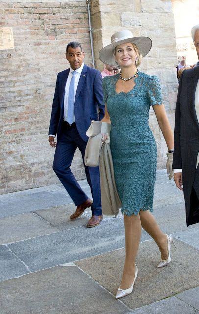 ♥•✿•QueenMaxima•✿•♥...Christening of Carlos, Hereditary Prince of Parma at the cathedral of Parma, Italy on September 25, 2016