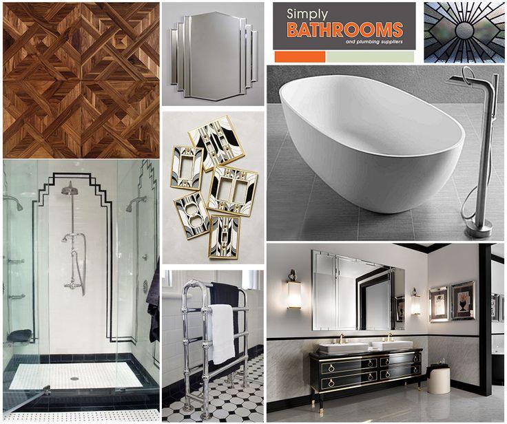 Go Great Gatsby, with an #ArtDeco #DreamBathroom!