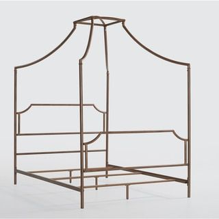 Bailey Brushed Copper Full-size Canopy Bed - Free Shipping Today - Overstock.com - 80008380 - Mobile