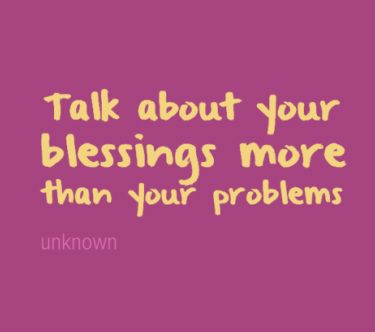 Focusing on Your Blessings