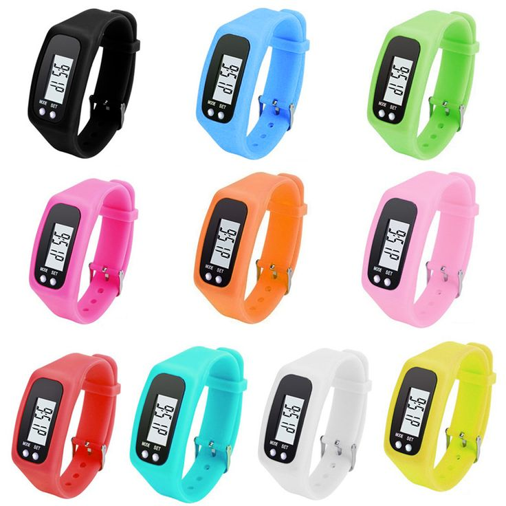 Digital LCD Run Langkah Pedometer Berjalan Jarak Calorie Counter Olahraga Perhiasan Gelang B2Cshop