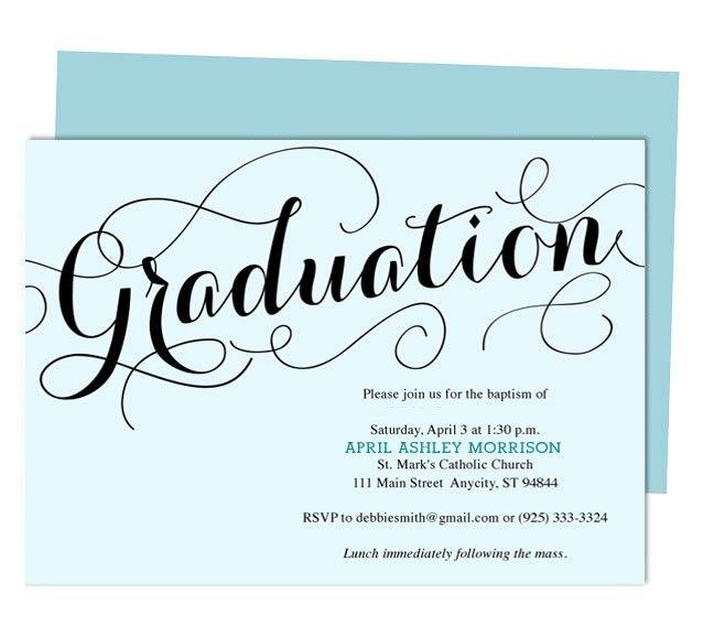 Best 25+ Graduation announcement template ideas on Pinterest - graduation invitation template