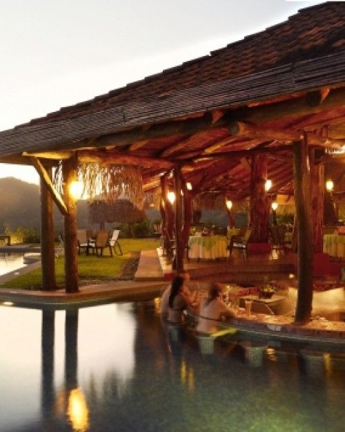 Hotel Punta Islita in Costa Rica- a great honeymoon idea. Has a swim-up bar and an open-air contemporary art museum